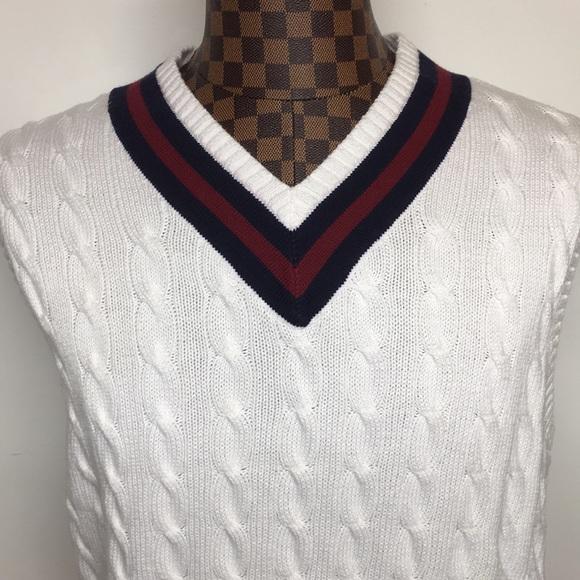 f14a80805c97e Polo Ralph Lauren Varsity Sleeveless Sweater XL. M 5aa4ca6036b9de077e3ad053